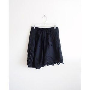 Marithe + Francois Girbaud Black Asymmetric Skirt
